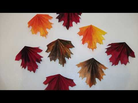 DIY paper leaves.Great decoration for autumn/fall.