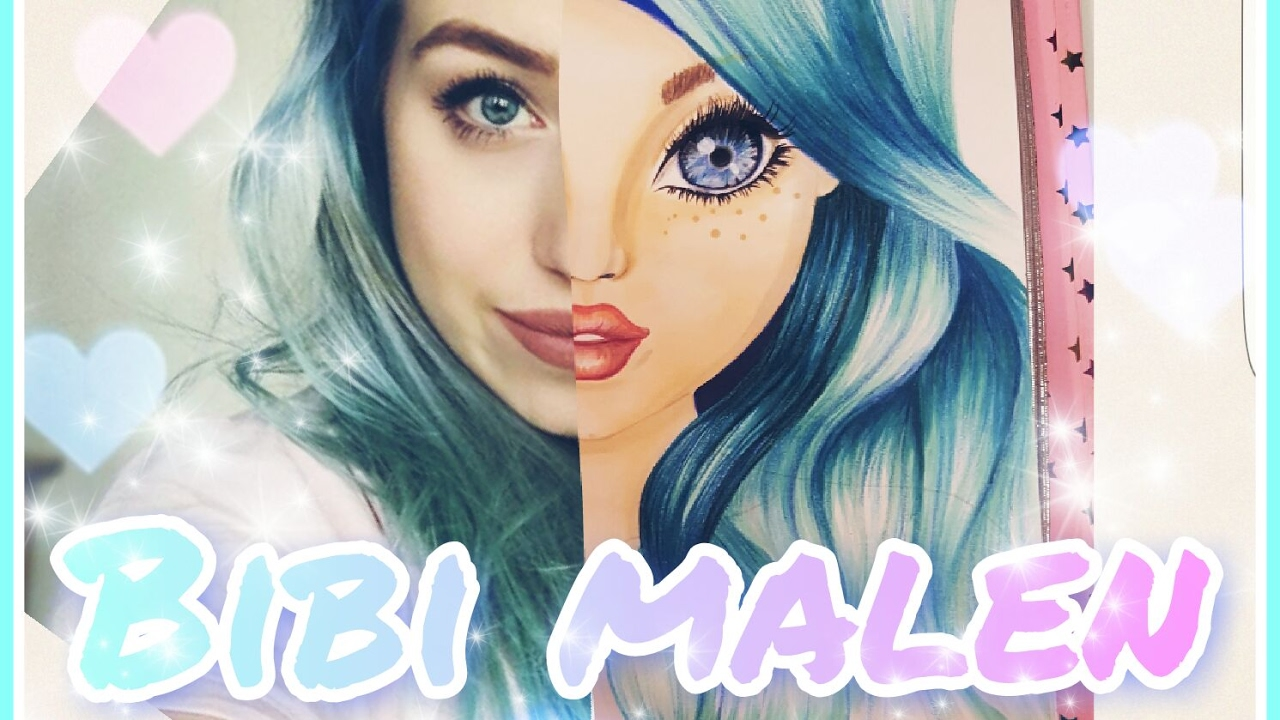 Topmodel Malbuch | How to draw BibisBeautyPalace | Bibi ...