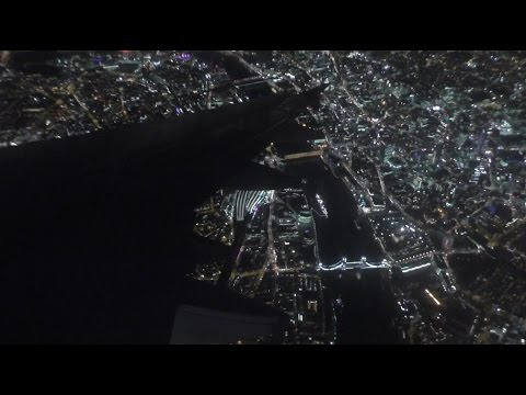 Stunning Night Approach into London Heathrow | British Airways Airbus A319