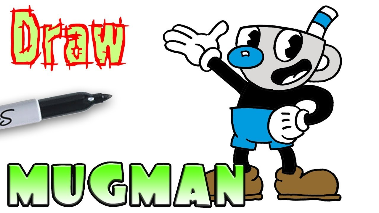 How To Draw Mugman Cuphead YouTube