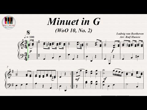 Minuet in G (WoO 10, No. 2) - Ludwig van Beethoven, Piano