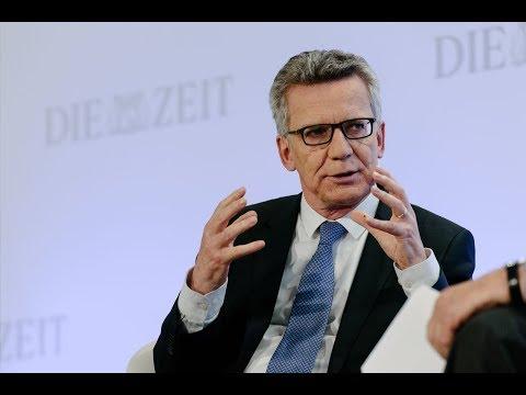 ZEIT Wirtschaftsforum 2017: Thomas de Maizière über Sicherheit und Freiheit in Deutschland