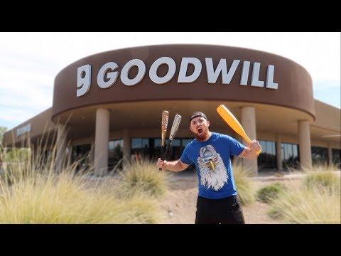 $10 GOODWILL BASEBALL BAT CHALLENGE!