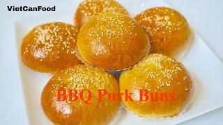 How to make BBQ pork Buns | Bánh mì nướng nhân thịt
