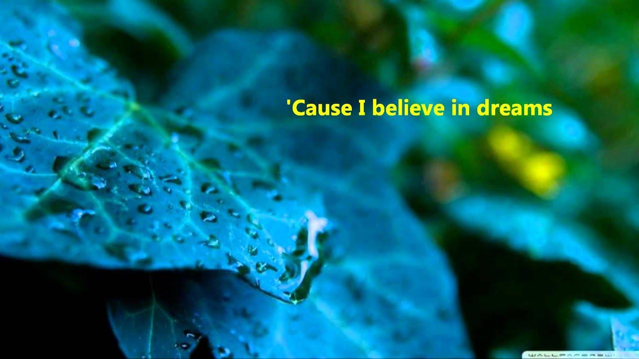 believe in dreams tiffany