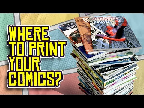 Where to Print Your COMIC BOOKS and GRAPHIC NOVELS?