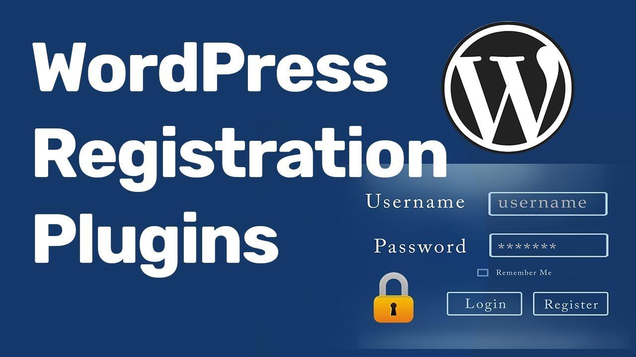 WordPress User Registration Login Plugin  2018