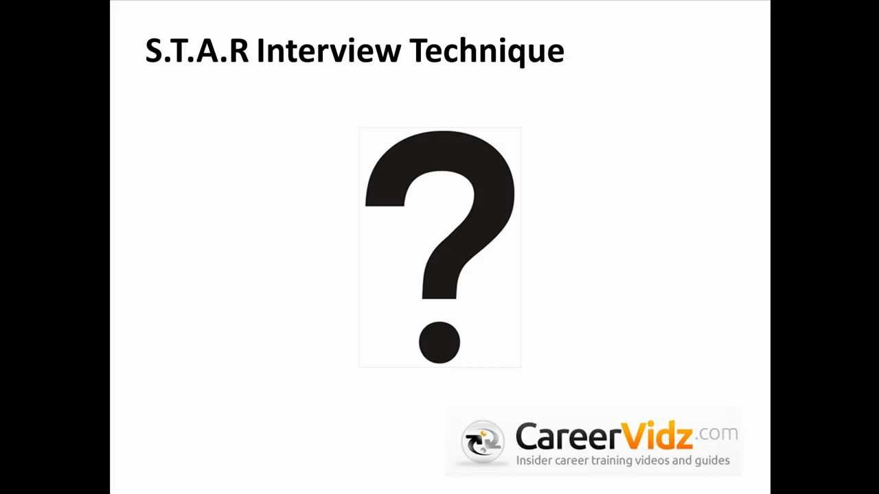 star interview technique star interview technique