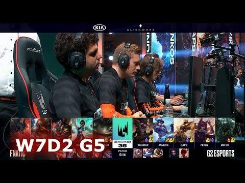 Fnatic vs G2 eSports   Week 7 Day 2 S9 LEC Summer 2019   FNC vs G2 W7D2