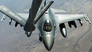 F-16戦闘機の空中給油(中東派遣の三沢基地所属機) - F-16 Fighting Falcon Aerial Refueling