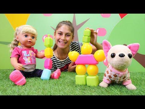 Ayşe ve Gül ile yeni video! Yeni sök tak oyuncağı! Bebek bakma oyunu ve çocuk videosu