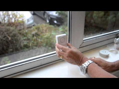 The Glass Minder Vibration Alarm with Warning Sticker - Personalalarms.com