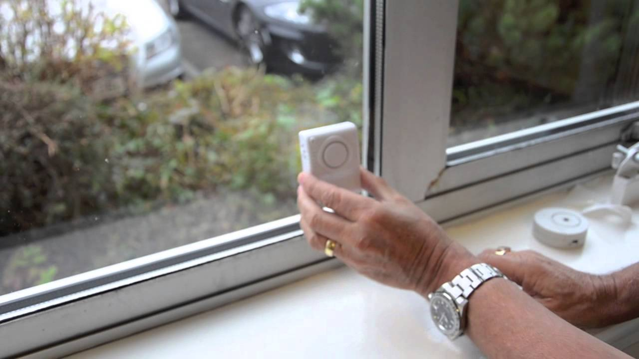 The Glass Minder Vibration Alarm With Warning Sticker - Window stickers for home security