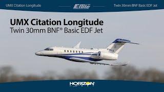 Load Video 1:  E-flite Citation Longitude BNF Basic w/SAFE Select