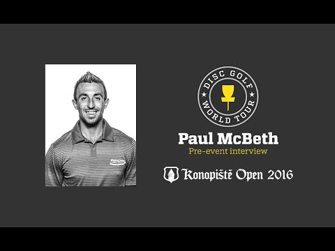 2016 Konopiste Open pre-event interview - Paul McBeth