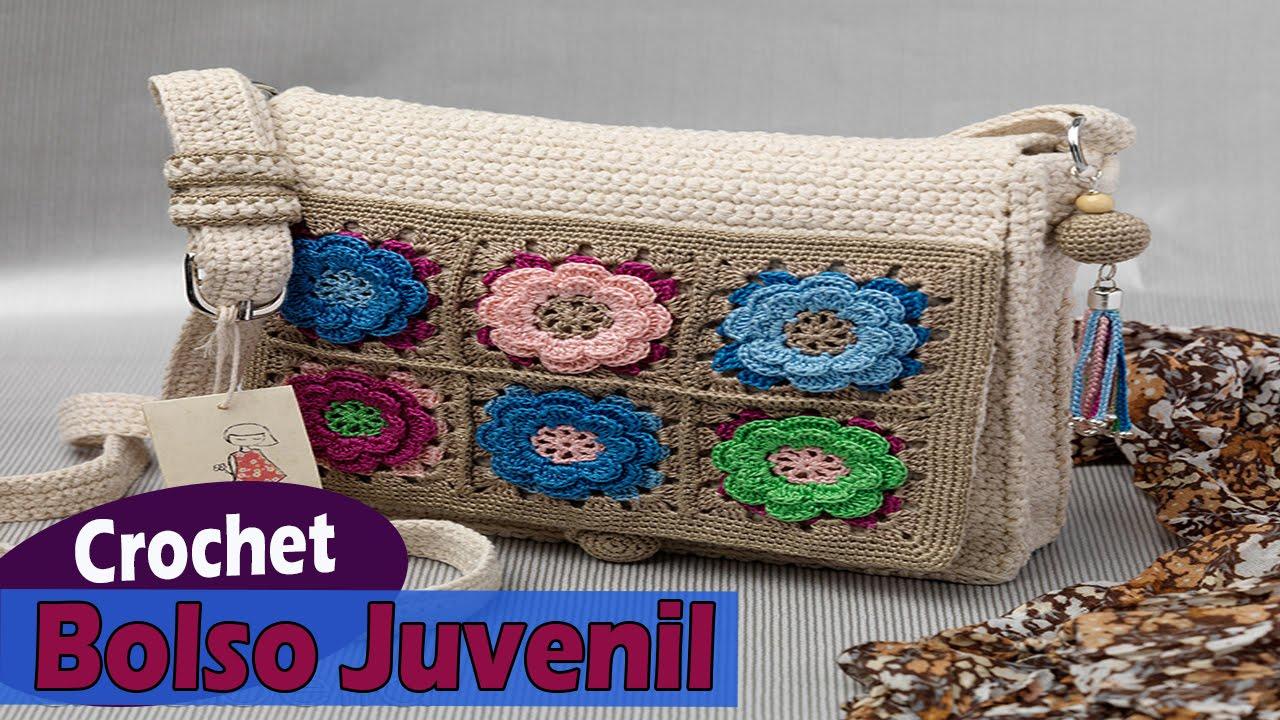 Bolsos juvenil tejidos a crochet dise os imagenes youtube - Bolsos tejidos a crochet ...