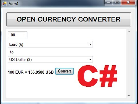 C Tutorial 102 How To Make A Live Currency Converter Using