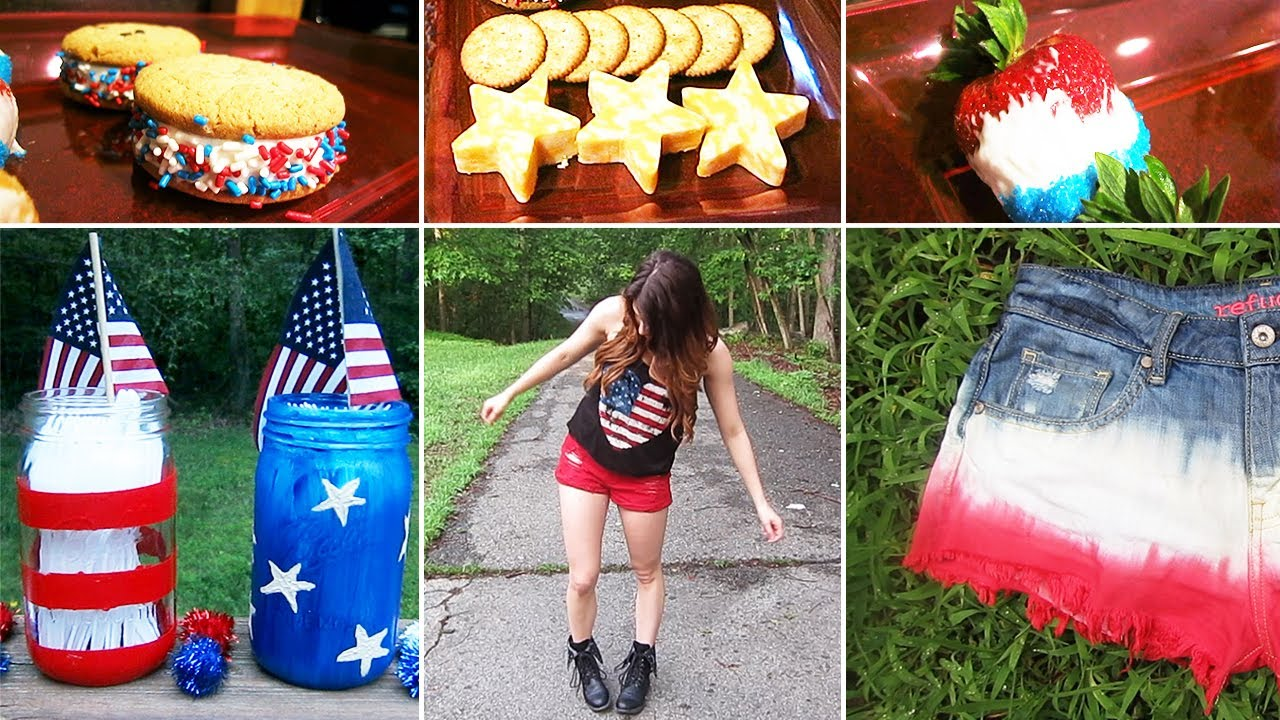 Diy 4th Of July Ideas Desserts Outfits Dip Dyed Shorts