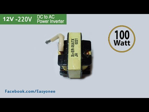 How to make inverter 12V To 220V From ATX Power Supply   Tutorial