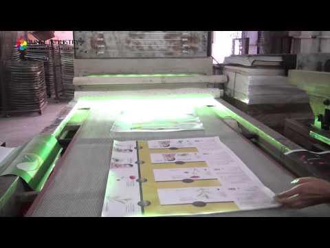 Video Guangzhou Junye paper bag packing factory production line