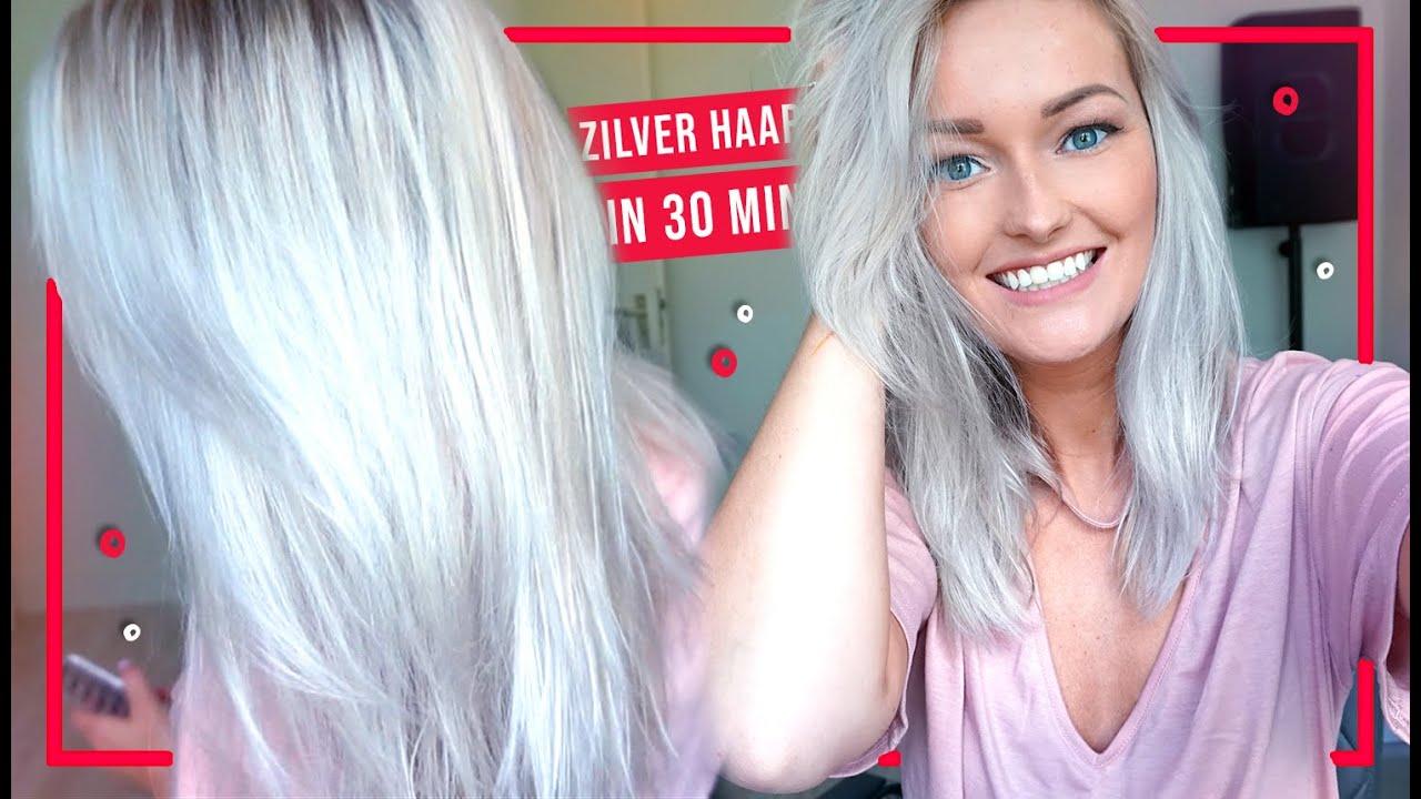 Wonderlijk DIY: Haar zilver/grijs verven in 30 min! - YouTube EI-52