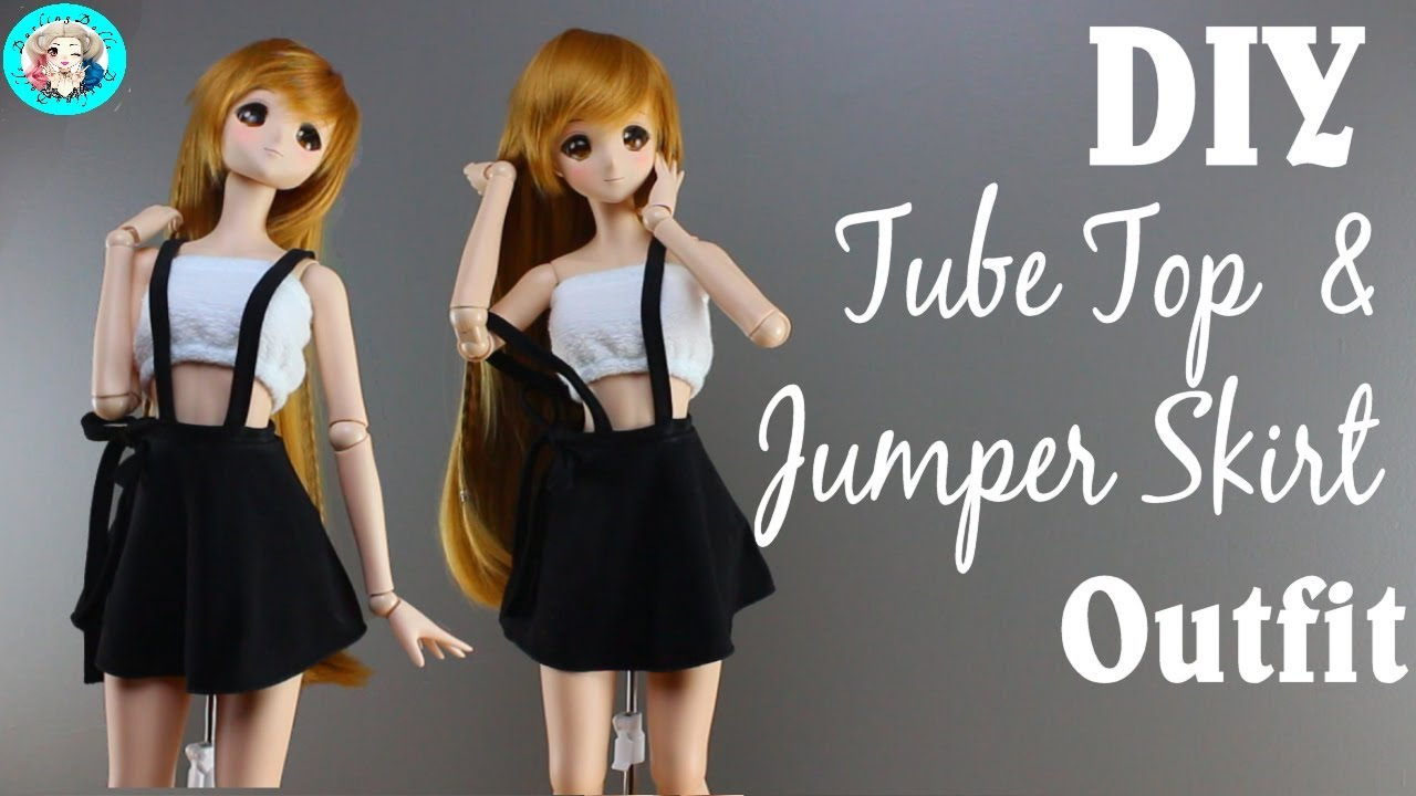 diy 1 3 ball jointed doll tube top jumper skirt. Black Bedroom Furniture Sets. Home Design Ideas