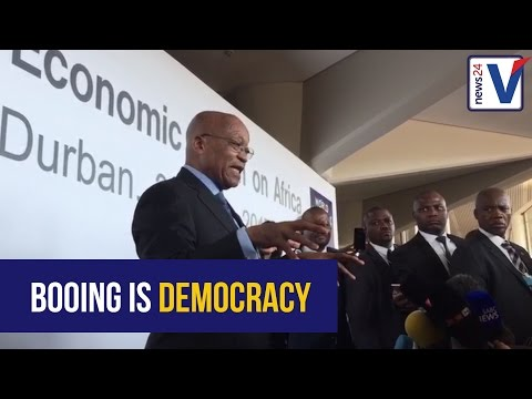 'Booing' is allowed in democracies, unlike dictatorships - Jacob Zuma