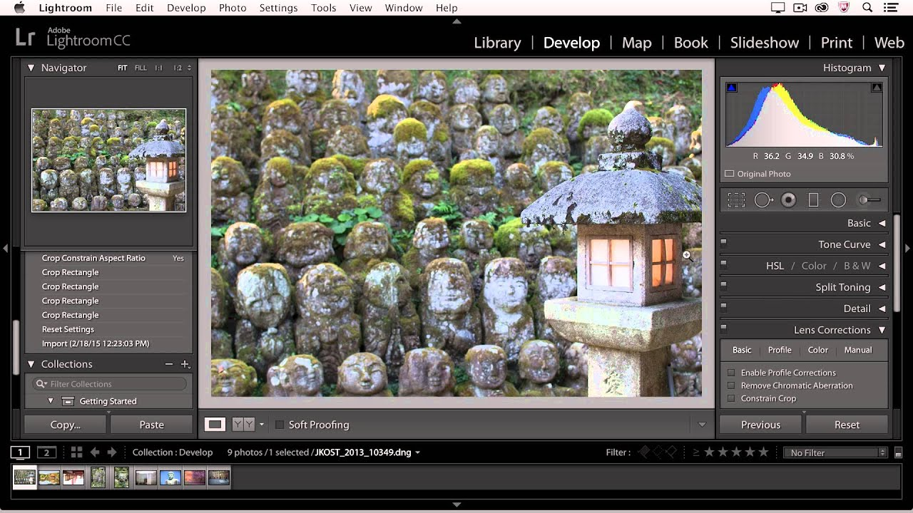 Lightroom Cc Lightroom Cc - Cropping Images - Youtube