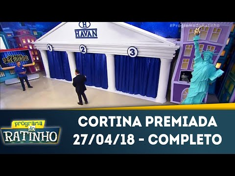 Cortina Premiada - Completo | Programa Do Ratinho (27/04/18)
