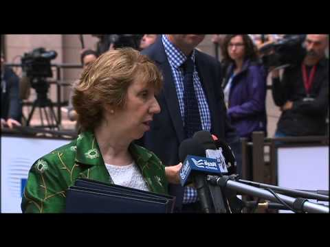 Catherine Ashton - Arrival at Foreign Affairs Council