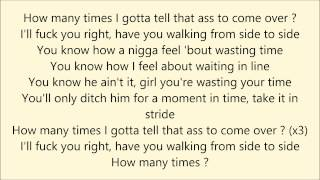 How many times - Dj Khaled ft. Chris Brown, Lil Wayne & Big Sean (Lyrics)