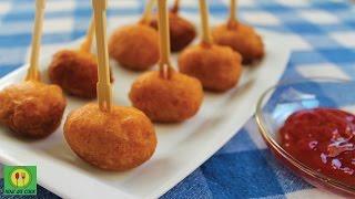Сосиски в кляре быстро и просто Рецепт Mini Corn Dogs Snacks Recipe
