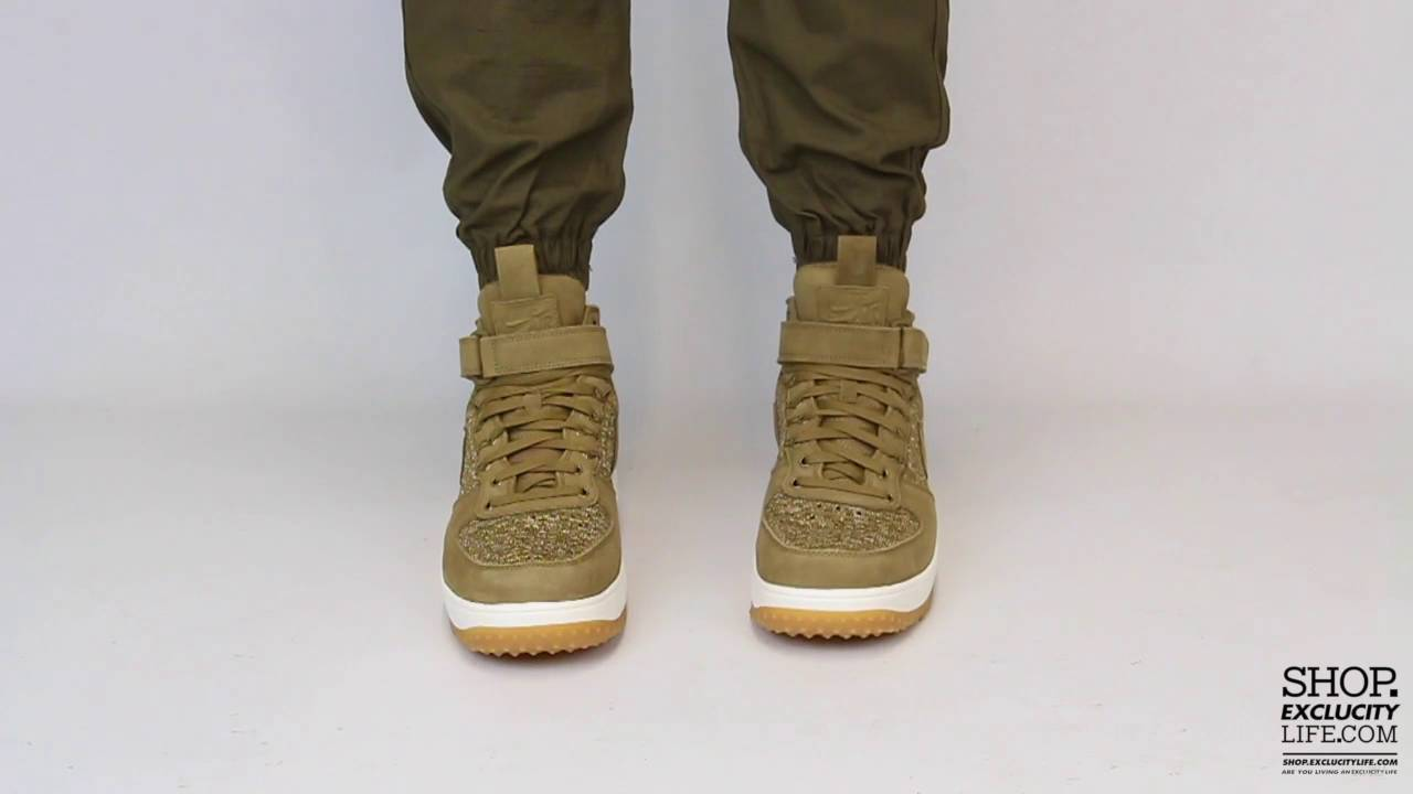 bcd8e8d01 ... buy nike lunar force 1 flyknit workboot golden beige on feet video at exclucity  youtube 75433 ...