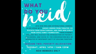 What Do You NEID Series: Session 2, Poverty Alleviation