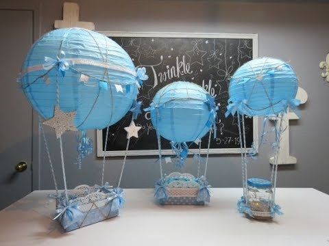 Baby Shower Series Project 5 Hot Air Balloon Centerpiece