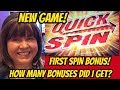 FIRST SPIN BONUS! NEW GAME QUICK SPIN SLOT MACHINE-POKIES