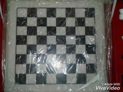 RM Marble 12×12inch Chess Board Game Set With 32Pieces Price 8500Rs