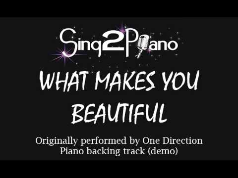 What Makes You Beautiful - One Direction (Piano Backing) Cover