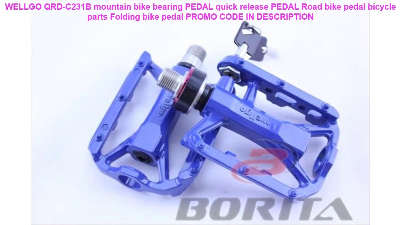Removable Alloy Pedals MKS AR-2 Ezy Bike Quick Release Black