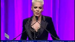 P!NK - 'Ally for Equality' Award - Acceptance Speech [HRC National Dinner]