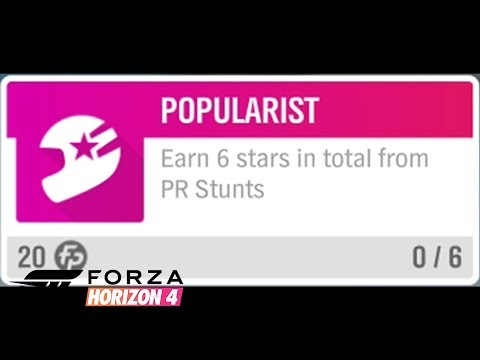"Forza Horizon 4 - ""Popularist"" Earn 6 stars in total from PR Stunts"