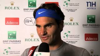 Roger Federer (SUI) on being back in Switzerland