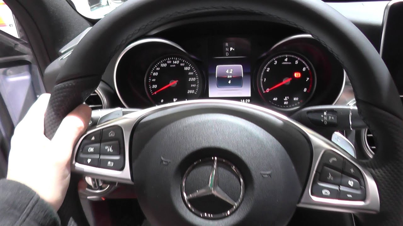 Mercedes C Class W205 Warning Lights Dash Cluster Interior Look