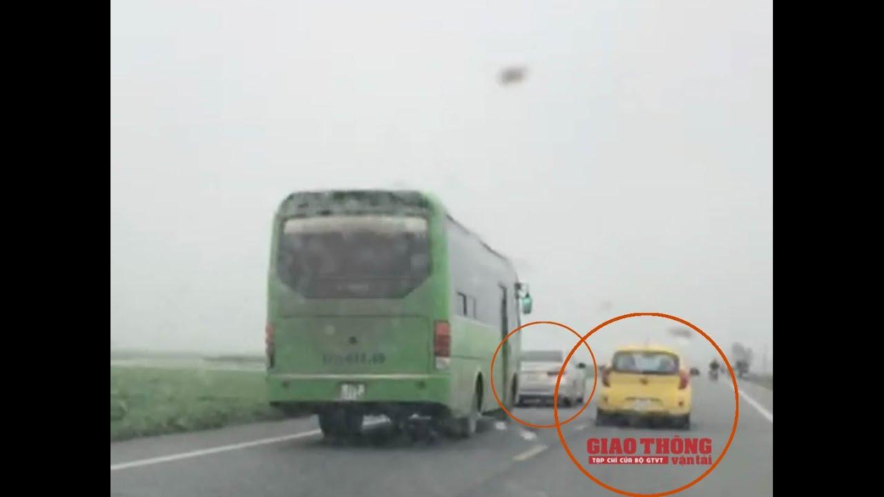 """""""Dàn xe nhà mày, bố thích đập lúc nào thì đập"""": """"Bảo kê"""" xe khách tuyến Thái Bình - Hà Nội"""