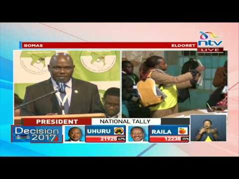 Chebukati: We now enter the most critical part of this election process, vote tallying