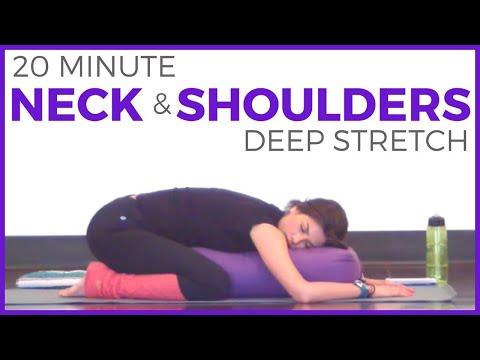 20 Minute Deep Stretch Yoga for Neck & Shoulders | SarahBethYoga
