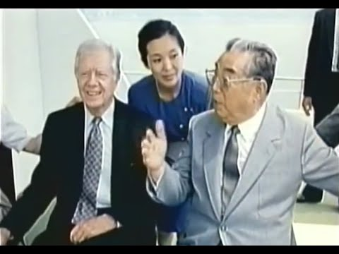 Kim Il Sung meets Han Duk Su, Isang Yun, Jimmy Carter and many other admirers