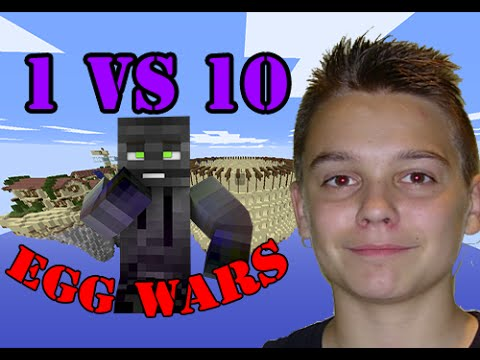 EGG WARS MINECRAFT PVP / 1 VS 10 Y GANO EPICO MAPA ROMA / CUBECRAFT