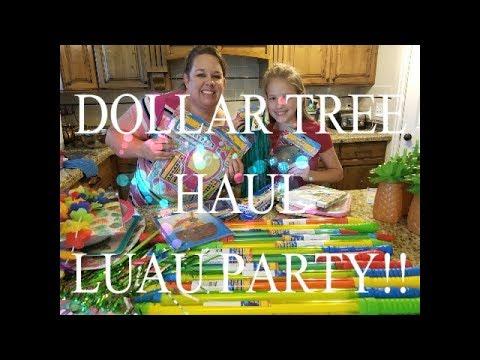 DOLLAR TREE HAUL\\LUAU PARTY