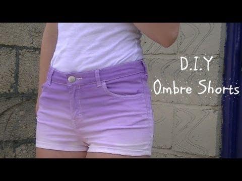 d.i.y-ombre/-dip-dye-shorts